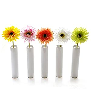 Crt Gucy Artificial Flowers 5 Pcs Artificial African Daisy Simulation Chrysanthemum Sunflowers Bouquet Bride Bridesmaid Holding Flowers for Home Hotel Office Wedding Party Garden Craft Art Decor 54