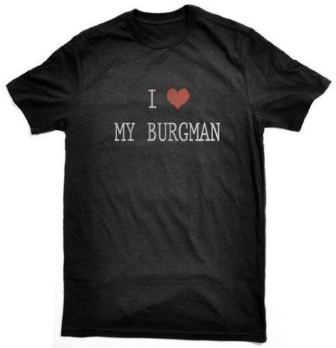 Berties Brand I Love My Burgman - Camiseta, diseño con Texto en ...