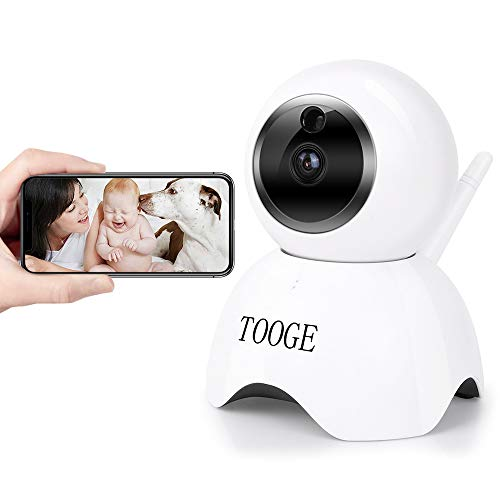 WiFi Pet Dog Camera TOOGE Pet Monitor Indoor Home Cat Camera for Baby/Elder/Nanny Motion Detection Night Vision 2-Way Audio (Camera Dog Spy)