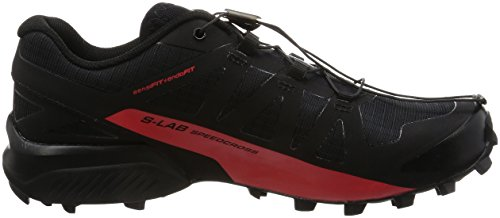 Salomon Herren S-Lab Speedcross Trail Laufschuhe Schwarz, Racing Rot