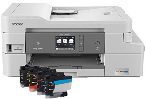 Brother Inkjet Printer, MFC-J995DW, Mobile Printing, Duplex Printing, Up to 1-Year of Printing Included, Amazon Dash Replenishment Enabled (Renewed)