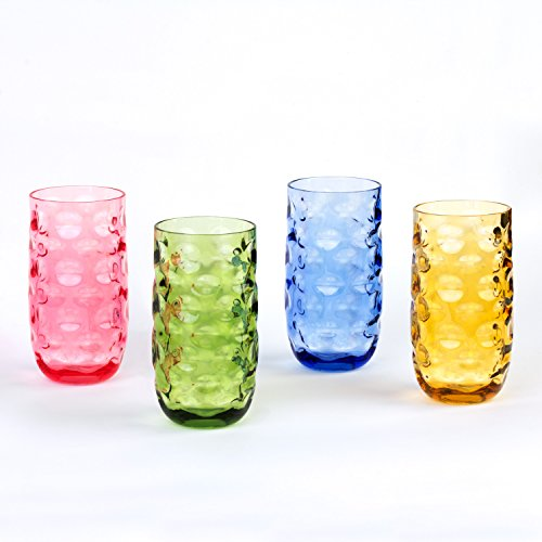 Cupture Impression Plastic Tumblers BPA Free, 20 oz, 4-Pack (Assorted - Costco Glasses Plastic