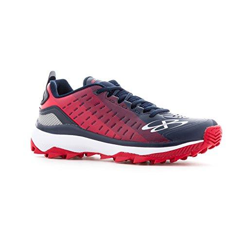Chaussures De Gazon De Catalyseur De Boombah Mens - 14 Options De Couleur - Tailles Multiples Marine / Rouge
