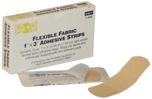 Pac-Kit 1-008 Fabric Adhesive Light Woven Flexible Bandage Strip, 3