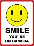 Smile Youre on Camera Sign - Under Surveillance Signs - Aluminum Metal