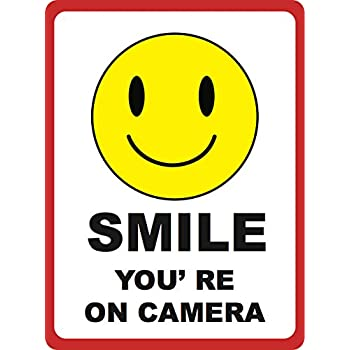 Handy image inside smile you re on camera sign printable