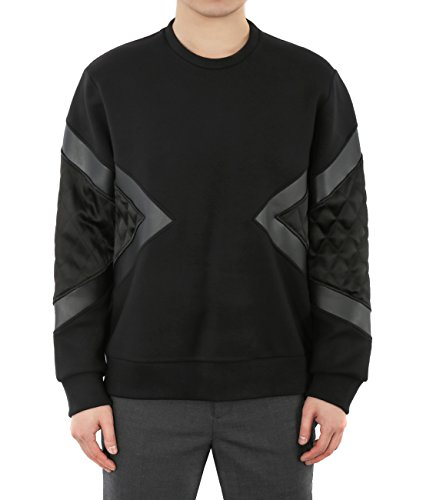 wiberlux-neil-barrett-mens-quilted-geometric-panel-sweatshirt-m-black