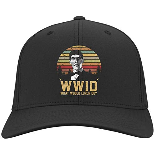 What Would Lurch Do Black Custom Embroidered caps for Men Women (Nylon Cap; Black; One -
