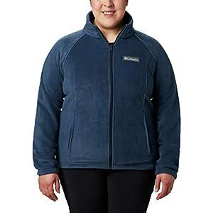 Columbia Women's Size Benton Springs Full Zip Jacket, Soft Fleece with Classic Fit, Navy, 2X Plus