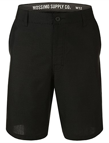 Mossimo Men's Flat Front Casual Shorts Size 28 Black Stripe (Mossimo Black Belt)