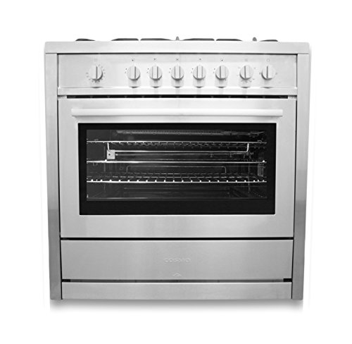 36 in. Gas Range with 5 Italian Made Burners, Oven, Broiler, Motorized Rotisserie, Lower Storage Cabinet Cosmo COS-965AG (36 Inch Range Gas compare prices)