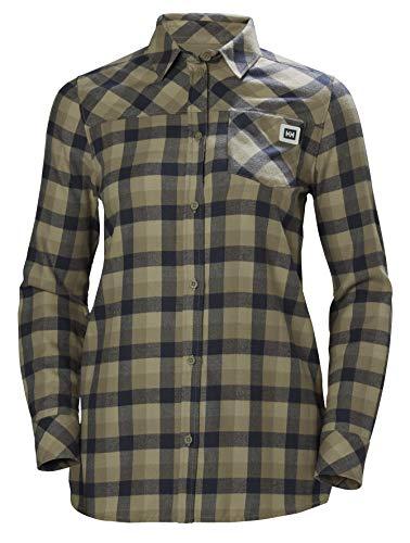 Rock Plaid Shirt - Helly Hansen Women's Lokka Long Sleeve Shirt, Fallen Rock Plaid, X-Small