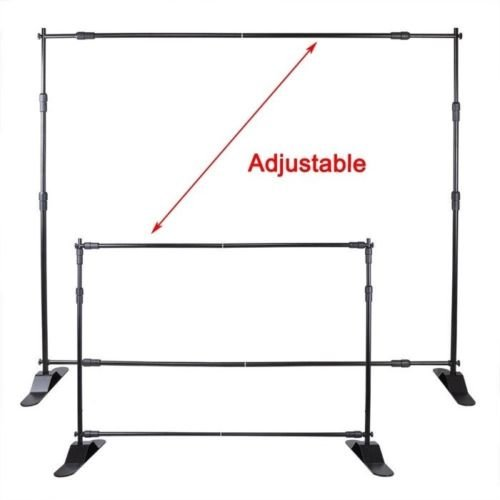 Photo Backdrop Banner Adjustable Stand 10 X 8 with Telescopic Poles for Trade Show Display Stand, Step and Repeat Frame Stand, Photography Booth - Carrying Case Free by BANNER BUZZ MAKE IT VISIBLE (Image #6)