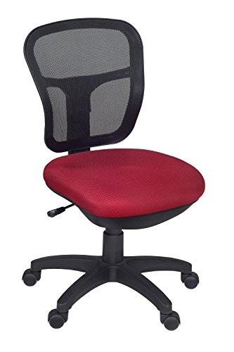 Niche Harrison Armless Swivel Chair- Red