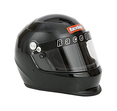 Helmet Race Small (RaceQuip 2230093 Gloss Black Pro Kids Full-Face Model Youth/Jr Auto Racing Helmet (SFI 24.1 2015))