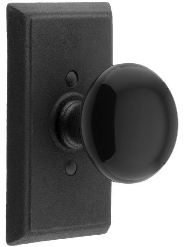 Emtek Flat Black Steel Hardware - 2