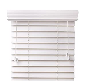 Amazoncom Premium 2 inch faux wood blinds White 34 in x 60 in