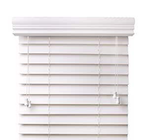 Amazon Com Premium 2 Inch Faux Wood Blinds White 34 In