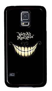 Elfe Boutique? Special Cool Design Black White Smile for Samsung Galaxy S5 Cases Cool Unique Customize Case Cover for Samsung Galaxy S5 I9600 We're All Mad Here