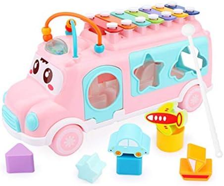 子供 パーカッション セット 子供のための子供のピアノ楽器教育木琴の幼児のギフト 音楽学習に適しています (Color : Pink, Size : 25x9x13cm)