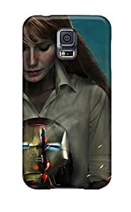 Galaxy S5 Case Cover With Shock Absorbent Protective Hitsq10300dtXqu Case