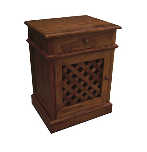 NES Furniture zma10107 Brilan End Table/Nightstand (Furniture & Teak Mahogany)