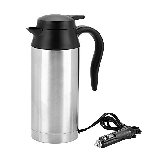 Taza de viaje eléctrica Viaje Tazas de café para calentar agua, café, leche de té, 16 onzas 12V: Amazon.es: Hogar