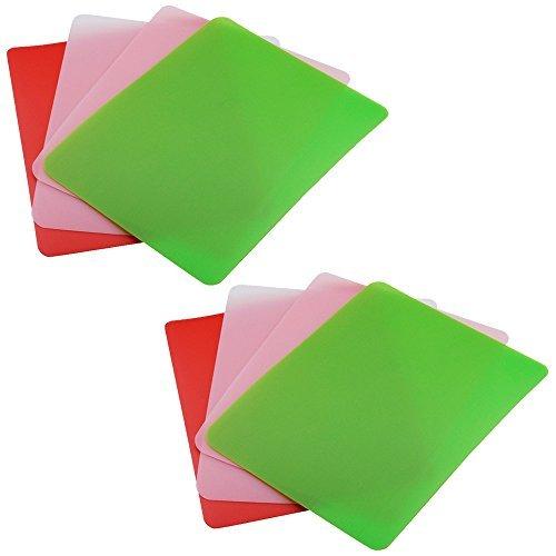 Flexible Chopping Set Mats (Good Cook Flexible Cutting Board Mats Set -- Pack of 8 Bendable Plastic Chopping Mats for Kitchen, 5.75  x 7.5 Inches (Cutting Board Set, Assorted Colors))