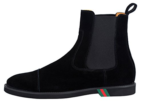 Bottines Homme Noir Italiennes marron Bottes amp; bleu Chelsea Chaussure Classiques Cheville Noir Cuir qnffRH5wF