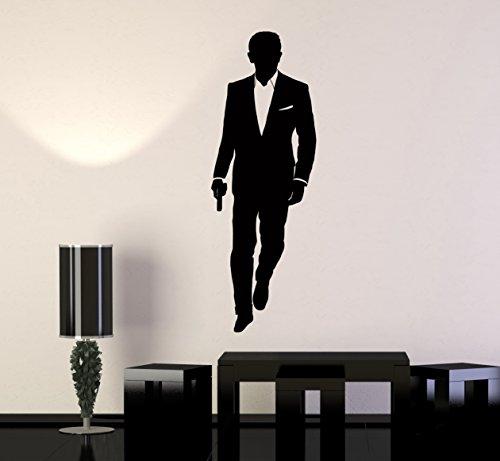 Wall Vinyl Sticker CIA FBA Аgent James Bond z1033m