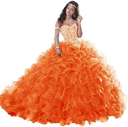 96938afd44 Jerald Norton Ltd Gorgeous Heavy Beaded Organza Quinceanera Dress for Sweet  16 Princess Ball Gowns