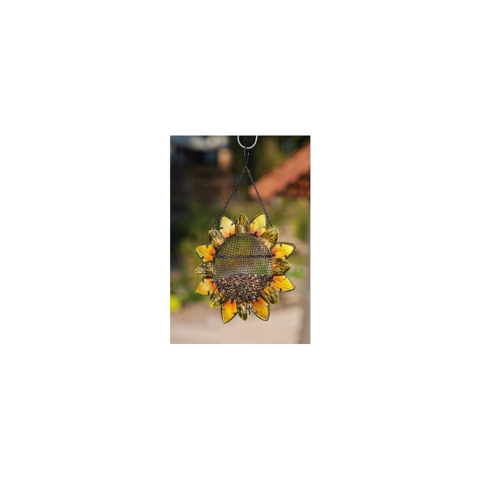 Sunflower, Metal and Glass Bird Feeder   (Bird Feeders) (Seed