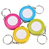 RAYNAG 4 Pieces Retractable Tape Measure Double Sided Scale with Keychain,Tailor Sewing Body Measure Soft Ruler,Random Color