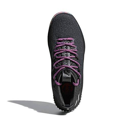 Adidas Dame 4 Scarpe Da Uomo Nucleo Da Basket Nero-argento Metallizzato-grigio Scuro
