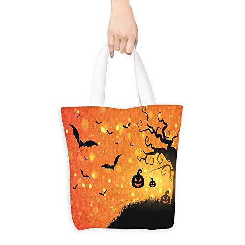 Halloween Merchandise Bags Magical Fantastic Evil Night Icons Swirled Branches Haunted Forest Hill Everyday Use 16.5