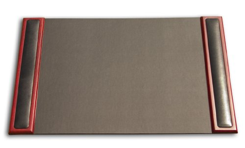 Dacasso Rosewood and Leather Desk Pad with Side-rails, 25.5 by 17.25 Inch by Dacasso