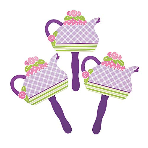 Girly Tea Party Fans (1 dz) by