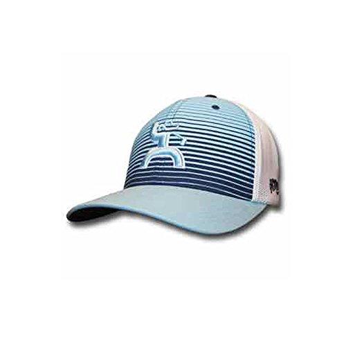 HOOey Men's Long Drive Striped Baseball Cap Light/Pastel Blue S/M ()