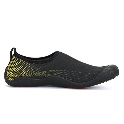 Dannto Water Shoes Uomo Quick-dry Aqua Sock Outdoor Barefoot Per Vela Surf Yoga Nuoto Aerobica Esercizio Fitness Diving Canottaggio Giallo