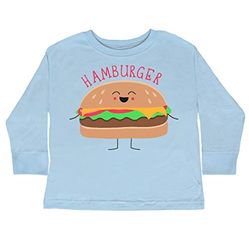 inktastic - Hamburger Costume Toddler Long Sleeve T-Shirt 2T Light Blue 31d0b ()