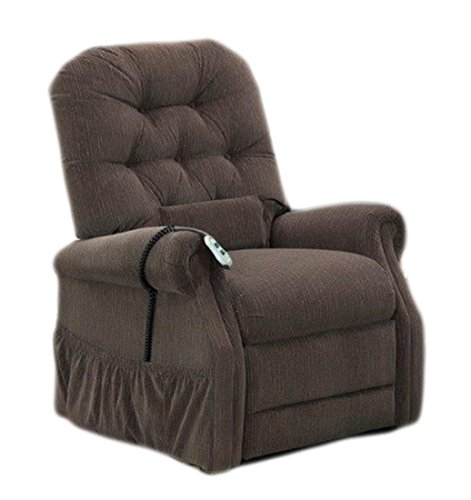 25 Series Wide Two-Way Reclining Lift Chair Moveable Infrared Heat: No, Upholstery: Bromley - Cobblestone, Vibration and Heat: (Bc Personal Series)