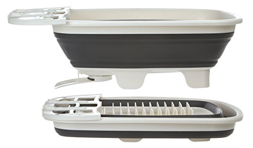Prep Solutions by Progressive Swivel Spout Collapsible Dish Drainer PS-202 Large Dish Tub, Pop Up Portable Dish Tub, Washing Basin by Progressive