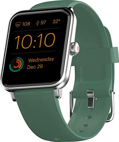 Noise ColorFit Pro 3 Smart Watch with 1.55″ HD Color Touch Screen, SpO2, Sleep, & Stress Monitor, Personalised Watch Faces, 5 ATM Waterproof (Smoke Green)