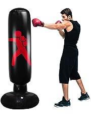 QIQU Inflatable Punching Bag for Kids, Punching Bag Freestanding Boxing Bag