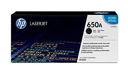 HP 650A (CE270A) Black Original Toner Cartridge