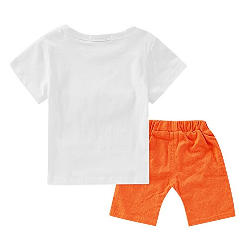 cartoon e animalier Pantalone da arancia shirt bambini shirt 4 pantaloni per per mesi 3 Wongfon anni bambini estivi stampa stampa Pantaloni T T con qwEx4n7O0