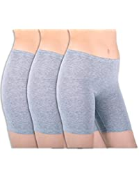 Womens 3 Pack Sheer & Sexy Cotton Spandex Boyshort Yoga Bike Shorts