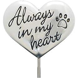 Rockin Doggie Pewter Memorial Stake, Always in My Heart