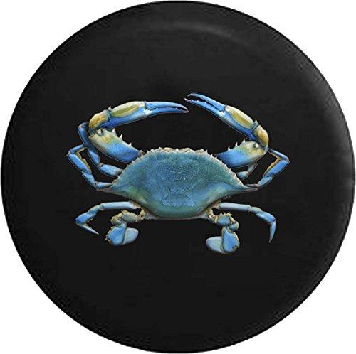 556 Gear Blue Crab Ocean Coast Sea Life Jeep RV Spare Tire Cover Black 29 in