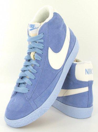 NIKE Blazer Mid Prm Vntg Suede Sneaker donna, Azzurro, 39